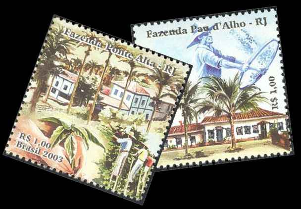 Brazil Fazendas on stamps